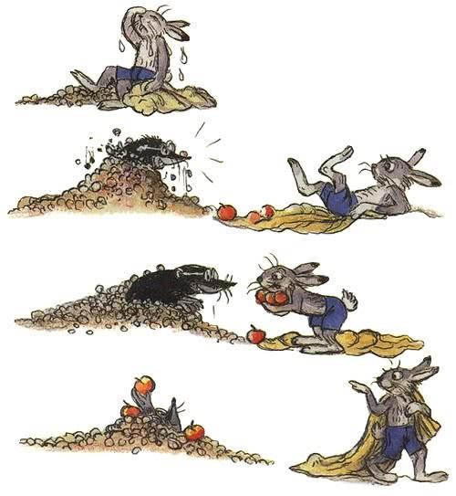 Краткое содержание сказки Мешок яблок Сутеева за 2 минуты пересказ сюжета