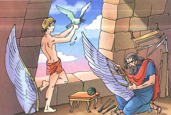Краткое содержание мифа Дедал и Икар за 2 минуты пересказ сюжета
