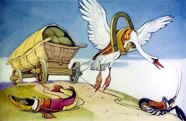 Краткое содержание Лебедь, Рак и Щука басня Крылова за 2 минуты пересказ сюжета