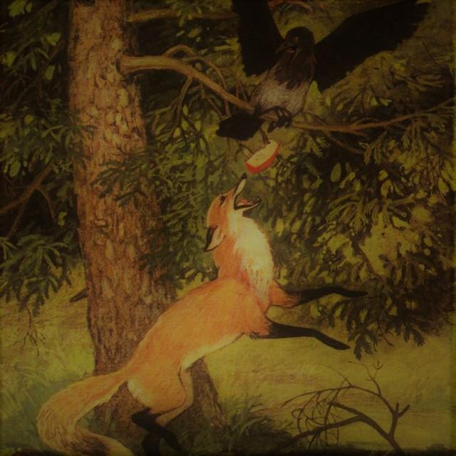 Краткое содержание басни Ворона и лисица Крылова за 2 минуты пересказ сюжета